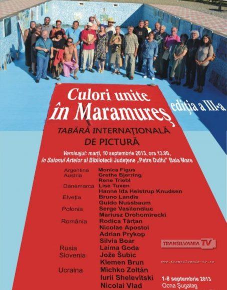 1-Afis Vernisaj Culori unite in Maramures